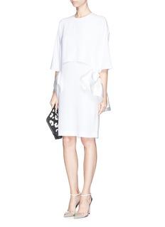 STELLA MCCARTNEYSatin ruffle trim crepe dress
