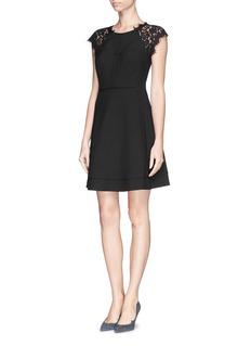 DIANE VON FURSTENBERG'Maddie' lace shoulder dress