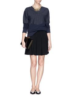 DIANE VON FURSTENBERG'Gemma' box pleat flare skirt