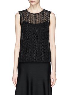 DIANE VON FURSTENBERG'Betty' crochet lace sleeveless top