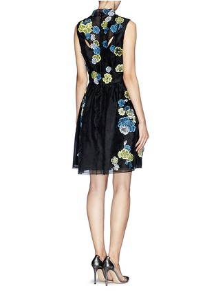 Back View - Click To Enlarge - ERDEM - 'Rina' 3D lace cutout organza dress