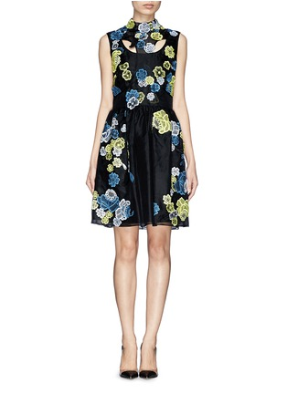 Main View - Click To Enlarge - ERDEM - 'Rina' 3D lace cutout organza dress