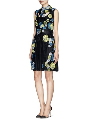 Figure View - Click To Enlarge - ERDEM - 'Rina' 3D lace cutout organza dress