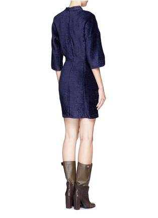 Back View - Click To Enlarge - 3.1 Phillip Lim - Textured high-collar dress