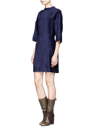 Front View - Click To Enlarge - 3.1 Phillip Lim - Textured high-collar dress
