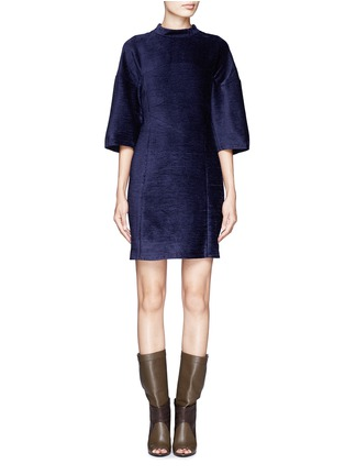 Main View - Click To Enlarge - 3.1 Phillip Lim - Textured high-collar dress