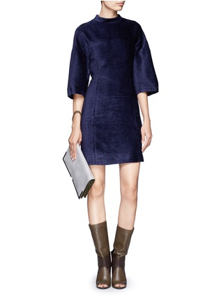 Figure View - Click To Enlarge - 3.1 Phillip Lim - Textured high-collar dress