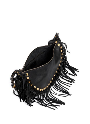 Detail View - Click To Enlarge - Valentino - Gryphon stud fringe leather hobo bag