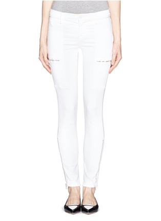 Main View - Click To Enlarge - J Brand - Photo Ready Kassidy skinny zip utility jeans