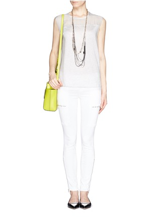 Figure View - Click To Enlarge - J Brand - Photo Ready Kassidy skinny zip utility jeans