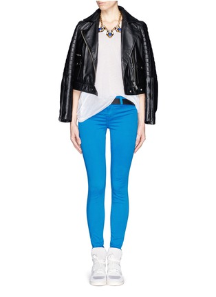 Figure View - Click To Enlarge - J Brand - Luxe Sateen Super Skinny jeans