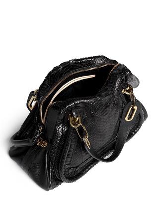 CHLO¨¦ - \u0026#39;Paraty\u0026#39; medium python leather bag | Black Day Shoulder ...