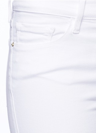 Detail View - Click To Enlarge - Frame Denim - 'Le Skinny de Jeanne Crop' zip jeans
