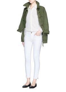FRAME DENIM'Le Skinny de Jeanne Crop' zip jeans