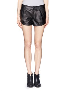 ALICE + OLIVIALeather Butterfly Shorts