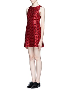 ALICE + OLIVIA 'Everleigh' heart embroidery dress