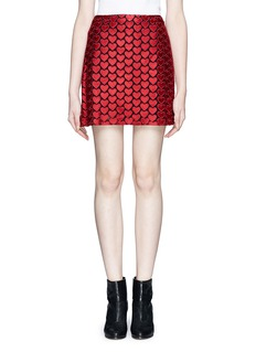 ALICE + OLIVIA 'Riley' heart embroidery skirt