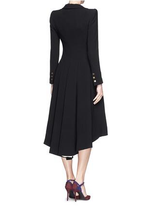 Back View - Click To Enlarge - alice + olivia - 'Bain' pleat asymmetric crepe coat