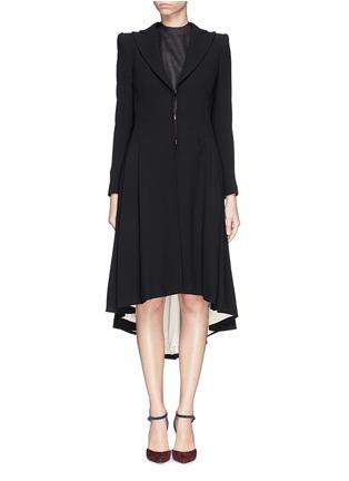 Main View - Click To Enlarge - alice + olivia - 'Bain' pleat asymmetric crepe coat