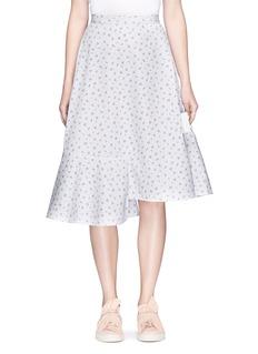 Shushu/TongFloral print asymmetric ruffle skirt