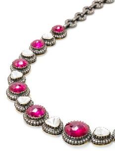 Aishwarya Diamond ruby gold alloy necklace