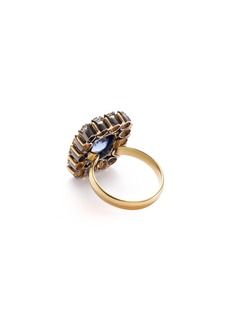 Aishwarya Diamond sapphire gold alloy square ring