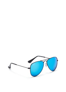 Ray-Ban 'Aviator Junior' metal mirror sunglasses