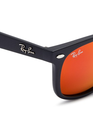 Detail View - Click To Enlarge - Ray-Ban - 'New Wayfarer Junior' plastic mirror sunglasses