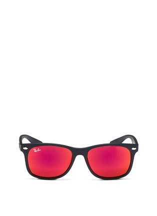 Main View - Click To Enlarge - Ray-Ban - 'New Wayfarer Junior' plastic mirror sunglasses