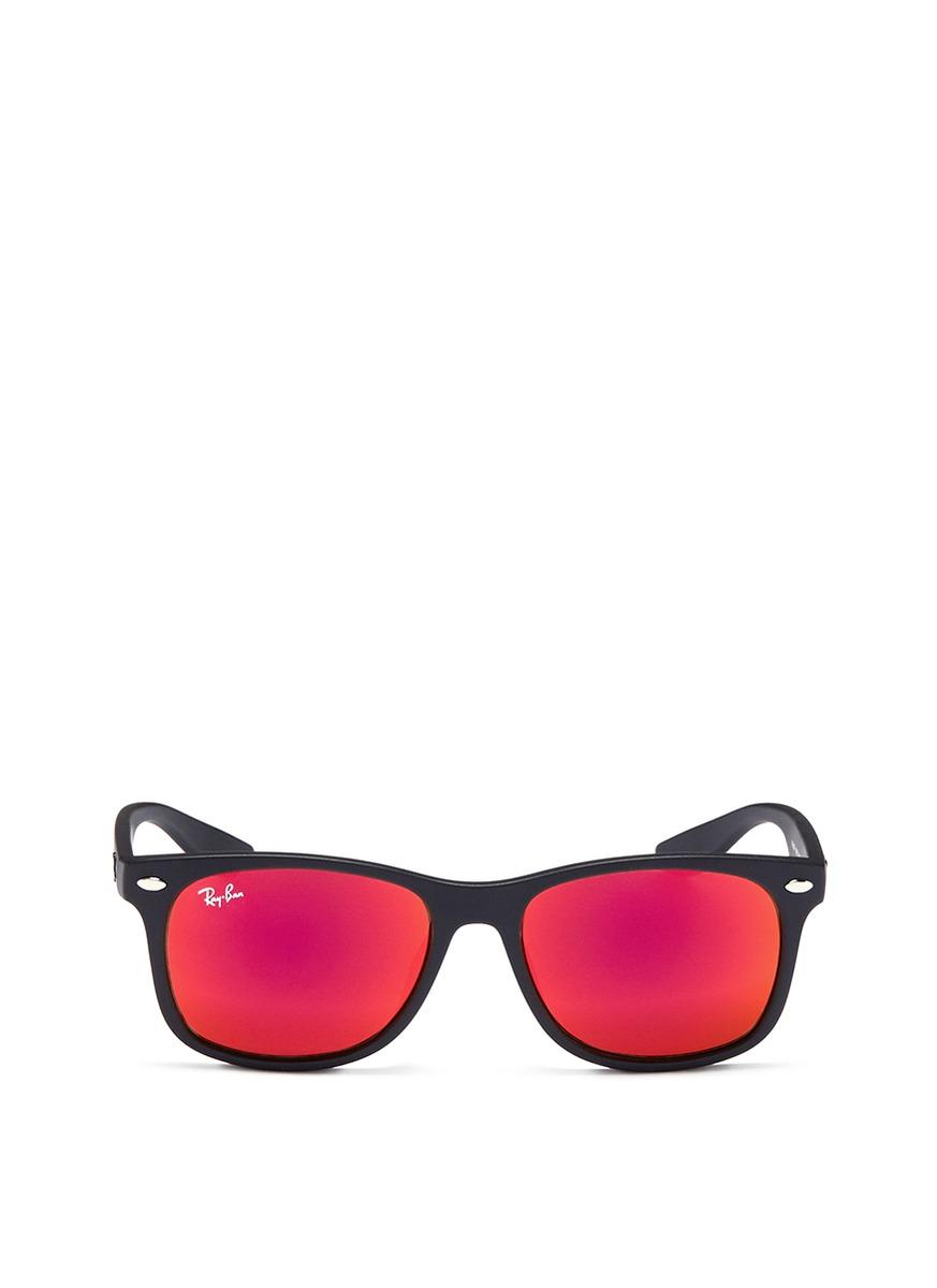 New Wayfarer Junior plastic mirror sunglasses by Ray-Ban