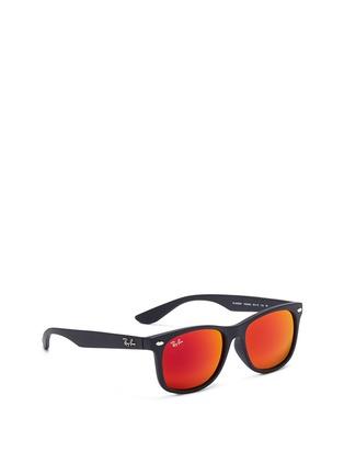 Figure View - Click To Enlarge - Ray-Ban - 'New Wayfarer Junior' plastic mirror sunglasses
