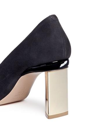Detail View - Click To Enlarge - Nicholas Kirkwood - 'Prism' metal heel suede pumps