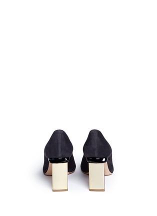 Back View - Click To Enlarge - Nicholas Kirkwood - 'Prism' metal heel suede pumps