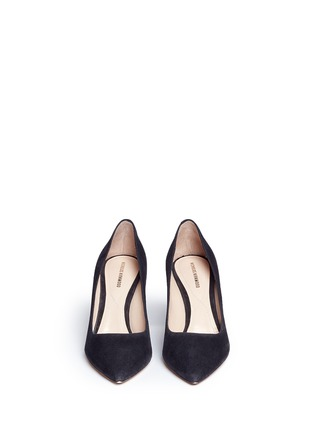 Front View - Click To Enlarge - Nicholas Kirkwood - 'Prism' metal heel suede pumps