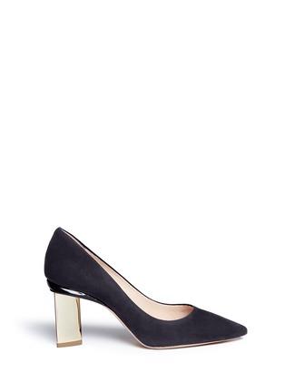 Main View - Click To Enlarge - Nicholas Kirkwood - 'Prism' metal heel suede pumps