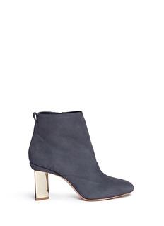 Nicholas Kirkwood'Prism' triangle block heel suede ankle boots