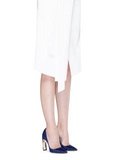 Nicholas Kirkwood'Maeva' faux pearl heel glitter pumps