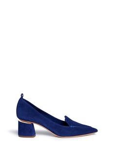 Nicholas Kirkwood'Beya' metal plate heel suede pumps