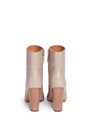 Back View - Click To Enlarge - 10 Crosby Derek Lam - 'Alma' wooden heel nappa leather boots