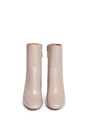 Front View - Click To Enlarge - 10 Crosby Derek Lam - 'Alma' wooden heel nappa leather boots