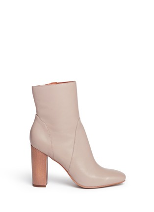 Main View - Click To Enlarge - 10 Crosby Derek Lam - 'Alma' wooden heel nappa leather boots