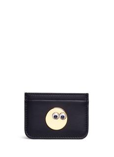 Sophie Hulme'Rosebery' goggly eye leather card holder