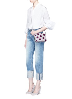 Sophie Hulme 'Arlington' small polka dots leather crossbody bag