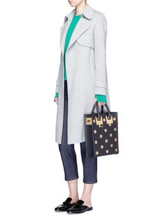 Sophie Hulme'Albion' mini polka dot rectangle leather box tote