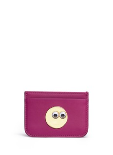 Sophie Hulme 'Rosebery' goggly eye leather card holder