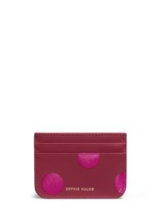 Sophie Hulme'Roseberry' polka dot leather card holder