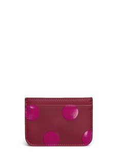 Sophie Hulme 'Roseberry' polka dot leather card holder