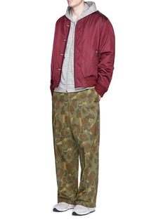 FACETASM 'Big Heart Chino' camouflage print wide leg pants