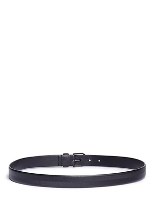 Back View - Click To Enlarge - Armani Collezioni - Chevron stripe leather belt