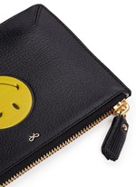 'Wink Loose Pocket' small leather zip pouch